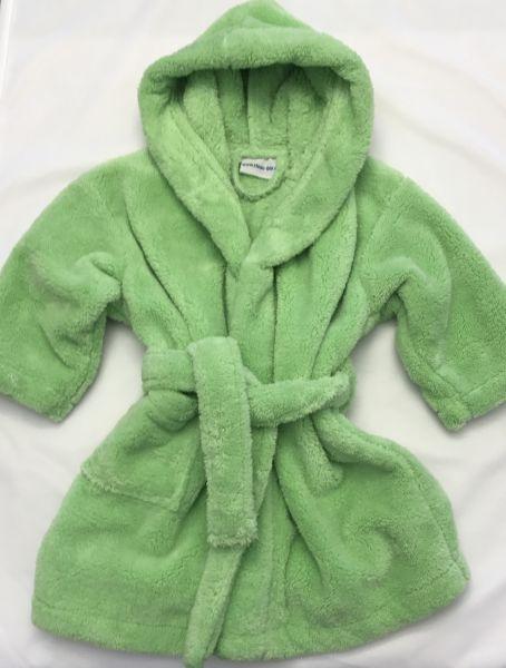 ANGEBOT Kinderbademantel mit Kapuze kiwi