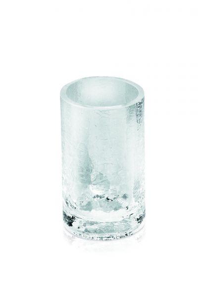 möve Glass Zahnbürstenhalter - mundgeblasenes Craquelé Glas