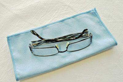 Brillen-/ I-Pad-Tuch blau