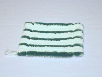 Minituch grün-weiss gestreift 17x17cm